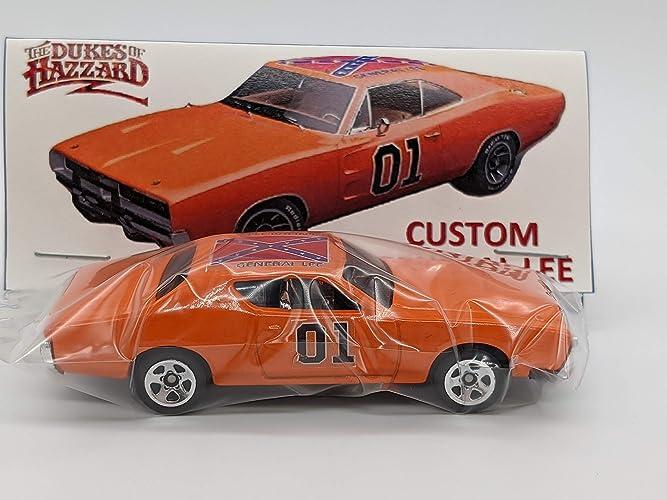 Custom Hot Wheels Dukes of Hazzard General Lee 71 Dodge Charger