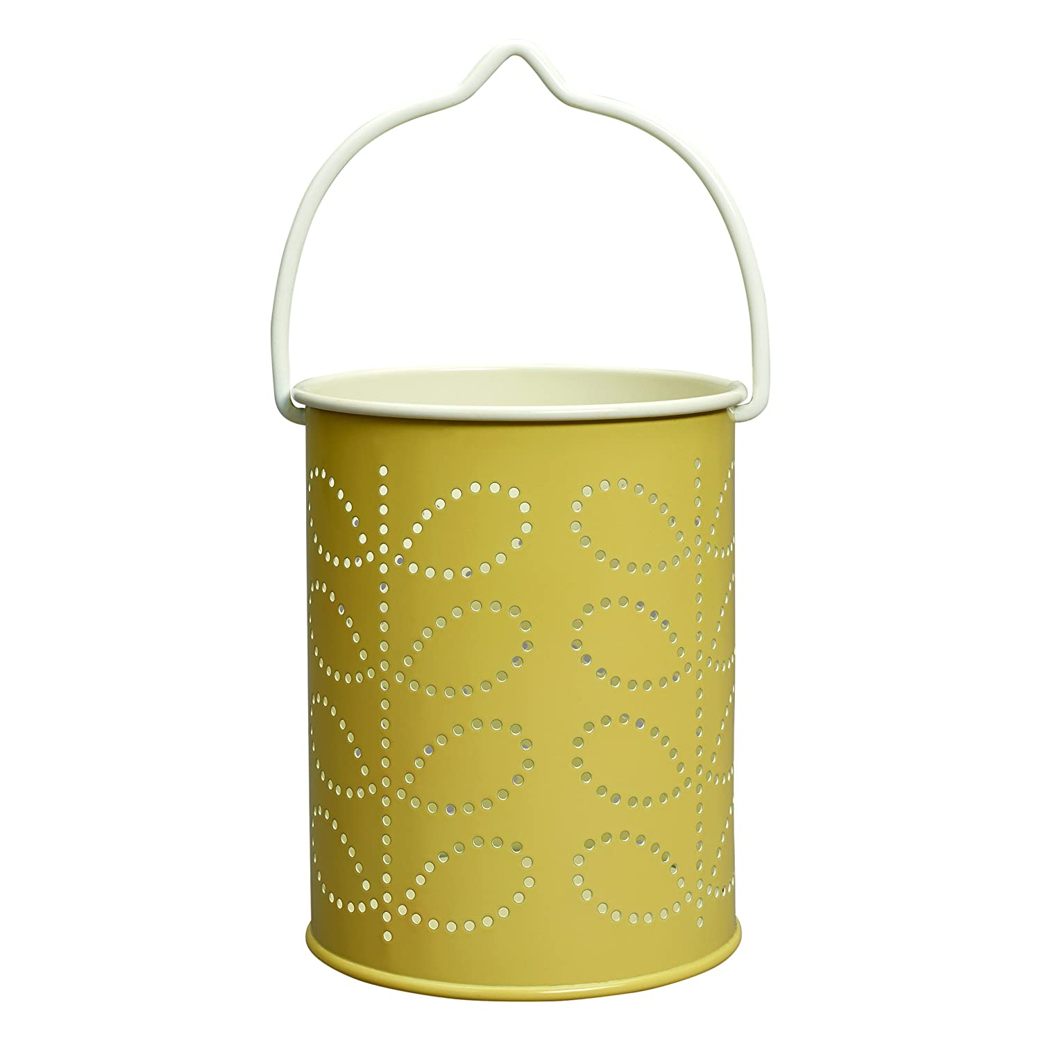 Orla Kiely Linear Stem Tea Light Lantern - Yellow Wild and Wolf OK062