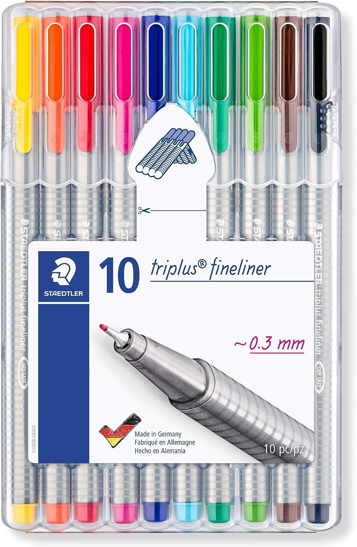 10 STAEDTLER Bolígrafos Azul Excelente Calidad