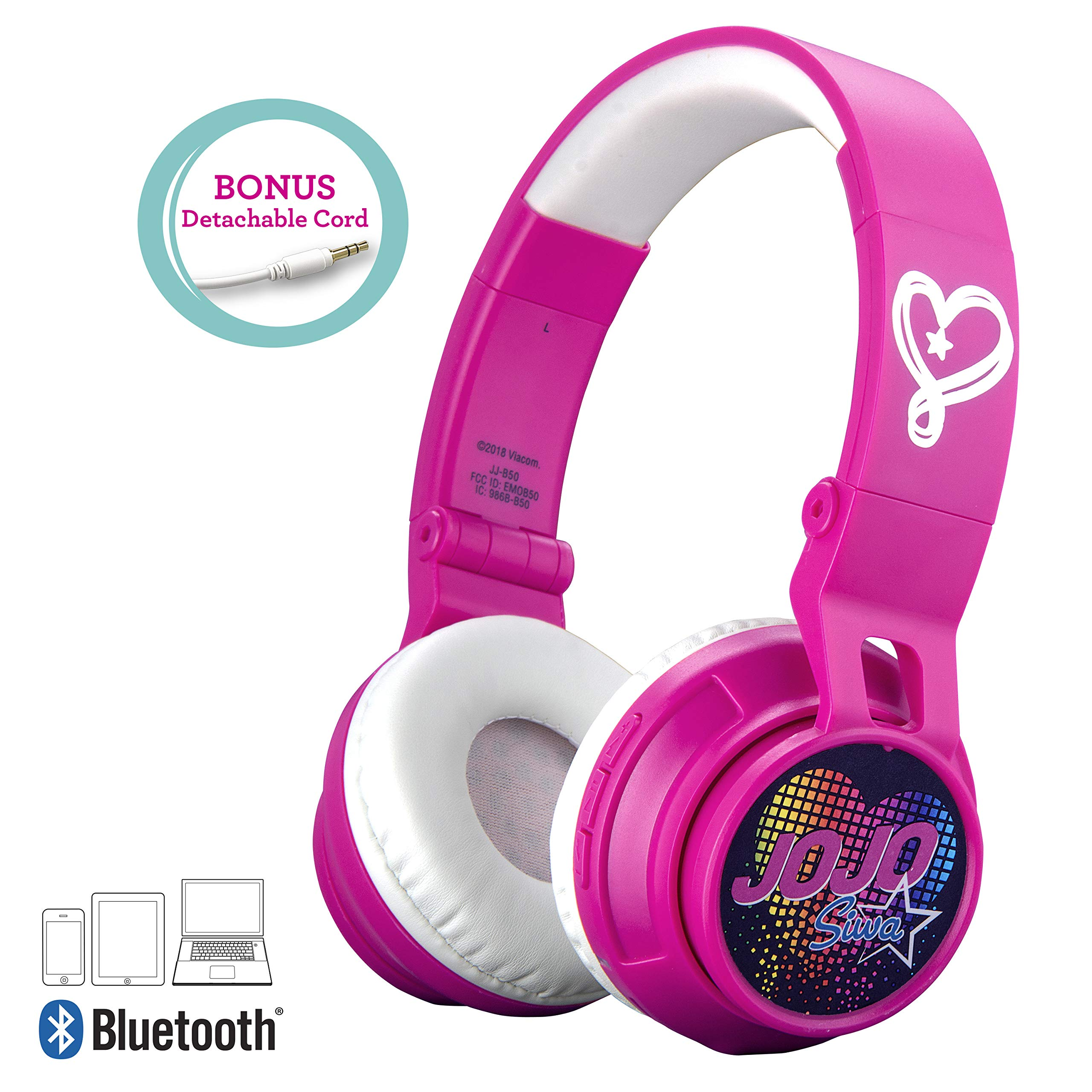JOJO SIWA KID SAFE WIRED HEADPHONES GIFT 4 BIRTHDAY OR CHRISTMAS w