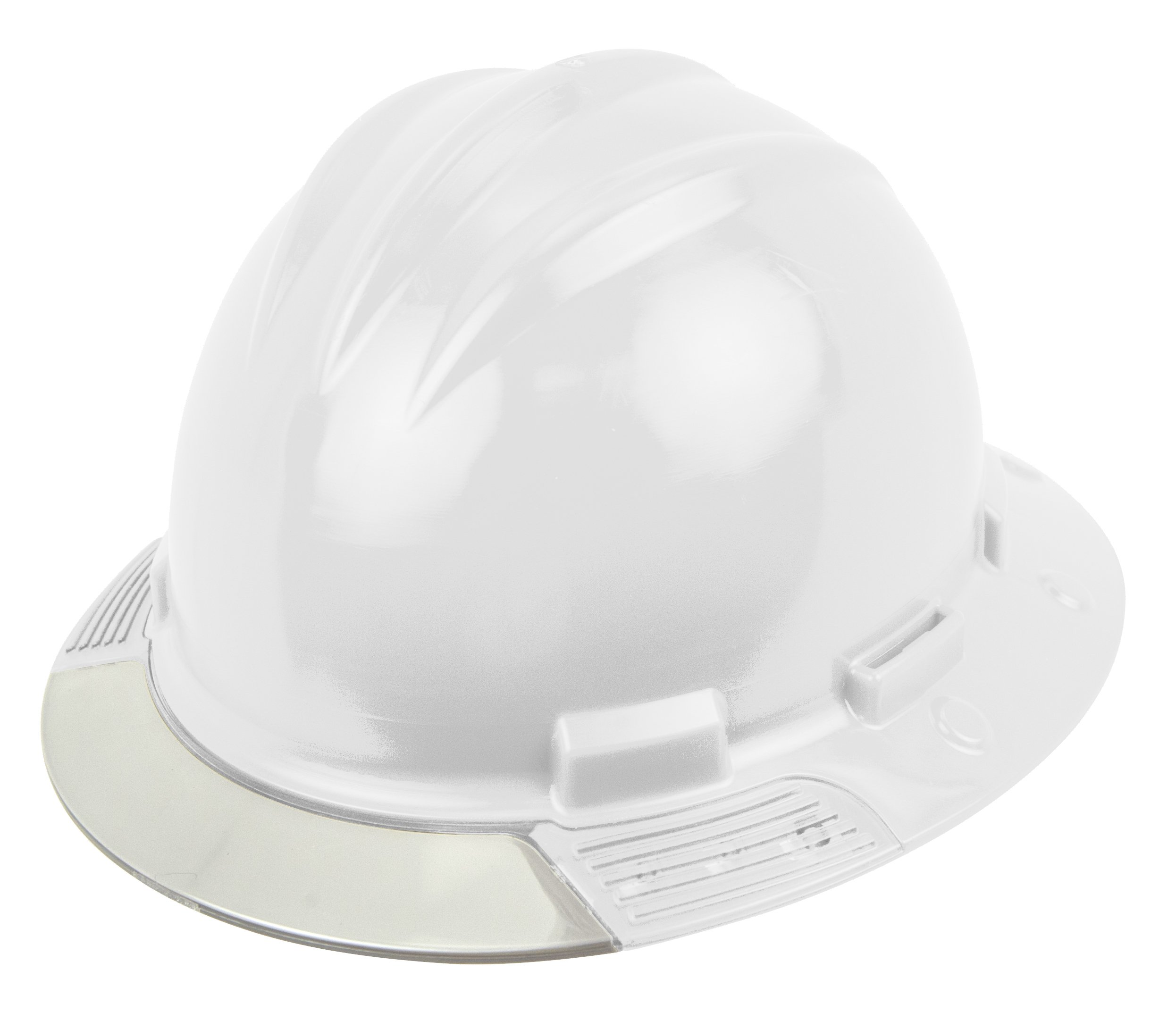 Bullard AVWHBC Above View Hard Hat, White, Vinyl Brow Pad, Ratchet Suspension, Clear Visor, One Size