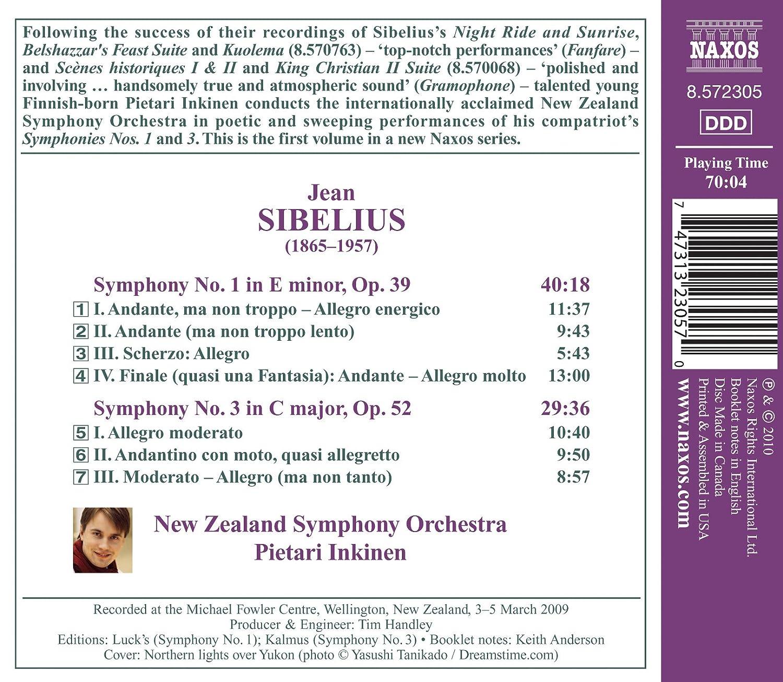 jean sibelius pietari inkinen new zealand symphony orchestra