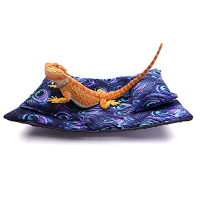 Chaise Lounge for Bearded Dragons, Purple Peacock Fabric : Industrial & Scientific