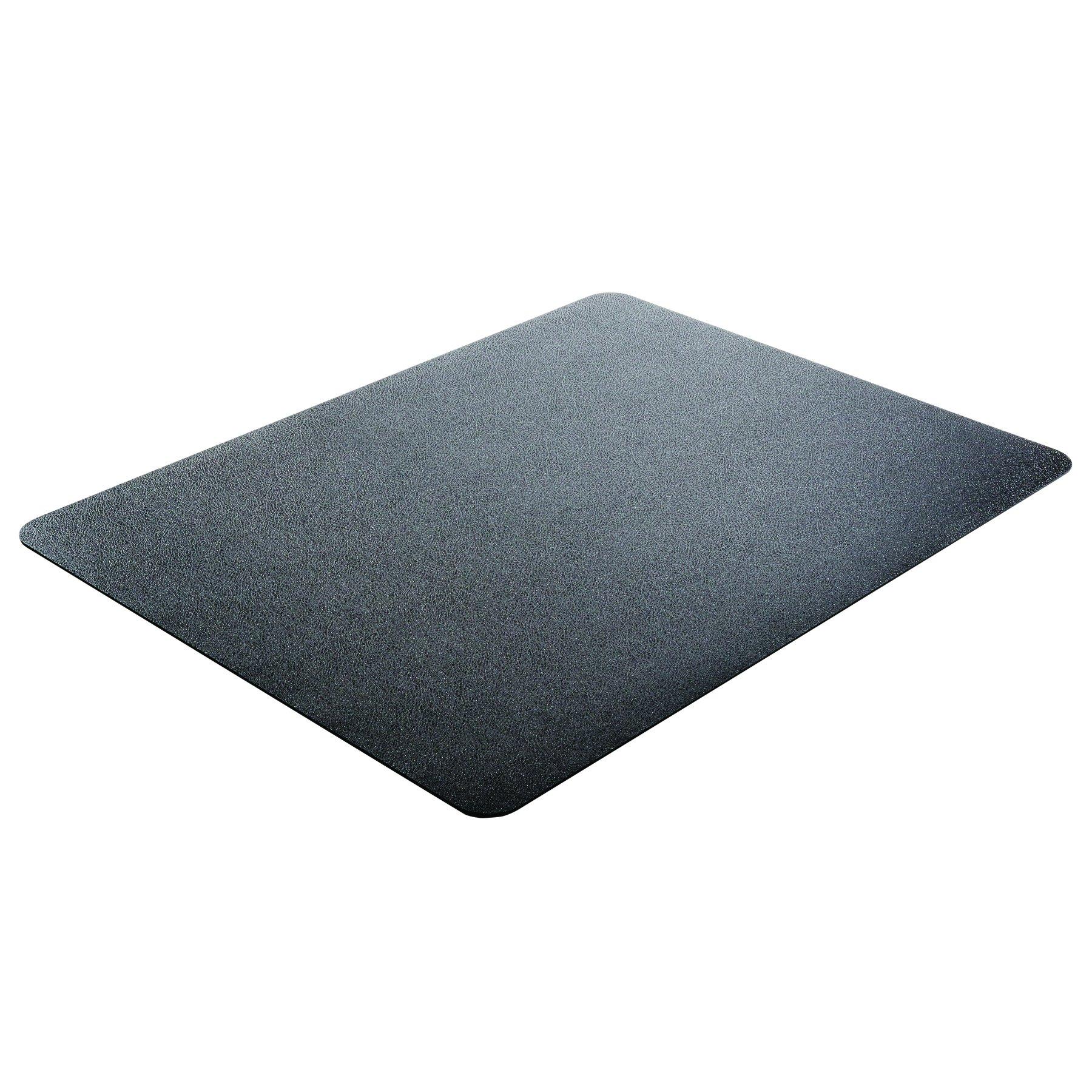 Deflecto EconoMat Black Chair Mat, Hard Floor Use, Rectangle, Straight Edge, 46 x 60 Inches (CM21442FBLK)