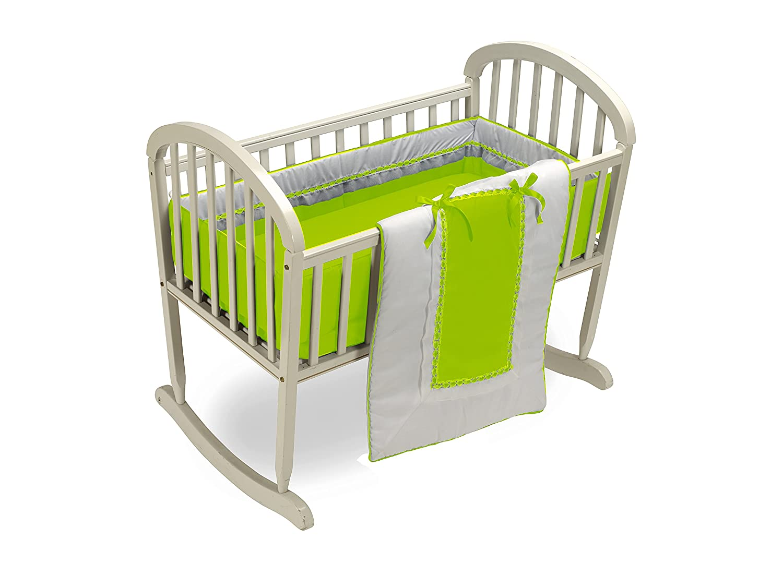 Green Apple Baby Doll Bedding Royal Cradle Bedding Set