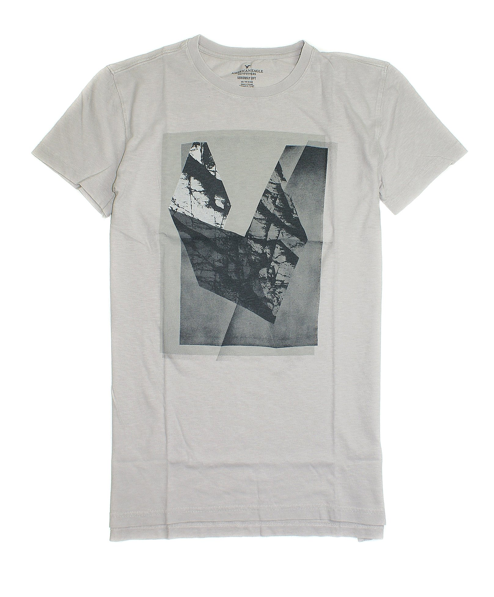 American Eagle Seriously Soft Graphic T Shirt 019 Tall Stone 2509