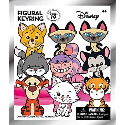 Disney Cats from Movies - 3D Foam Key Ring Blind Bag: Toys & Games