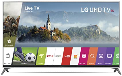 64aeb156767 Image Unavailable. Image not available for. Color  LG Electronics 65UJ7700  65-Inch 4K Ultra HD Smart LED TV ...