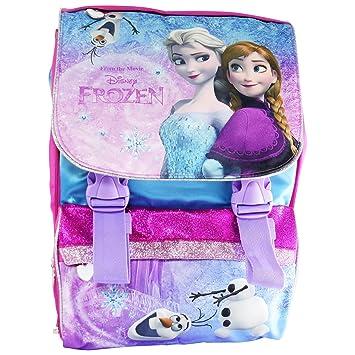Disney Frozen Elsa y Anna Mochila Expandible Bolso Escolar con Regalo: Amazon.es: Equipaje