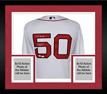 6c93b8c3a7b Framed Mookie Betts Boston Red Sox Autographed Majestic White Authentic  Jersey with quot 2018 AL MVP quot
