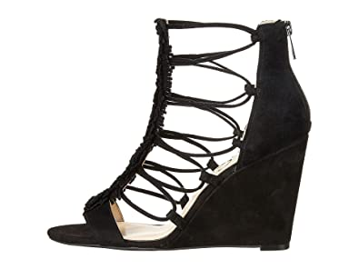 77069dad85e Jessica Simpson Women s Beccy Black Luxe Kid Suede Sandal ...