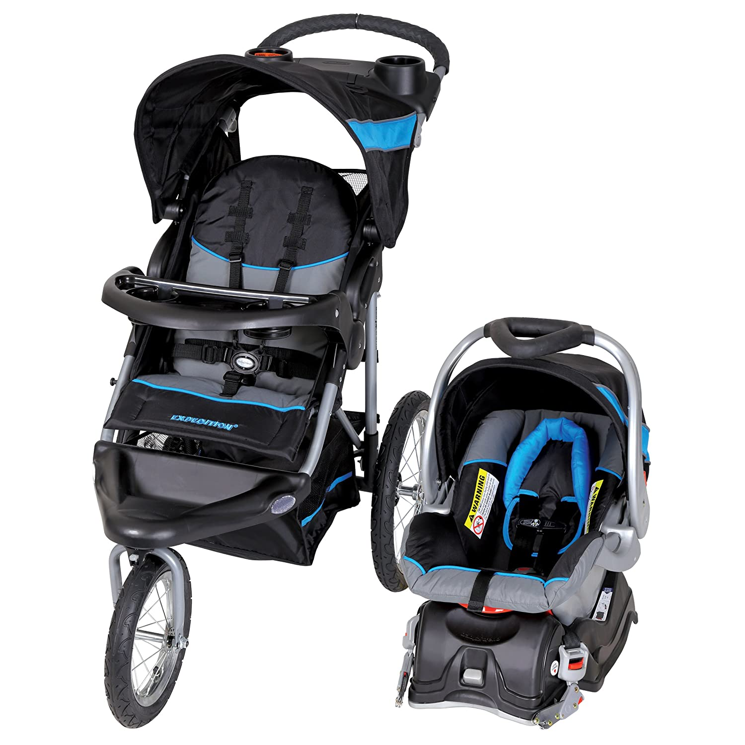 Amazon Baby Trend Expedition Jogger Travel System Millennium Blue Baby