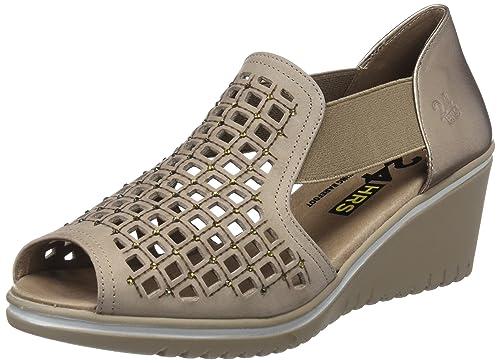 24 HORAS 23561, Sandalias con Punta Abierta para Mujer: Amazon.es: Zapatos y complementos