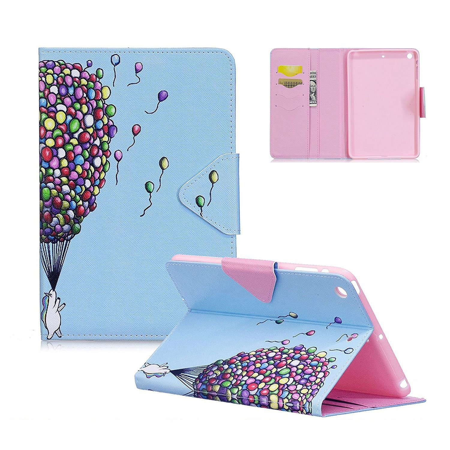 2nd and 3rd Generation A Bunch of Cats Premium Synthetic Leather Stand Smart Cover with Card Slots//Cash Holder Corner Protection iPad Mini 2//3 Case Protective Shell for Apple iPad Mini 1st