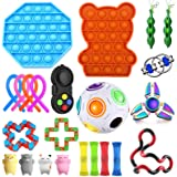 Sensory Fidget Toys Set,Fidget Toy Pop It sensorische speelgoedset, 23 kinderen stressverlichtingsspeelgoed, fidget…