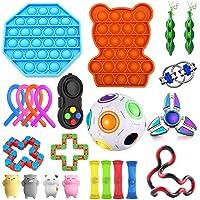23-pack sensoriska leksaker set uppsättning, fidget leksak set lindrar stress och ångest för barn vuxna, specialleksaker…