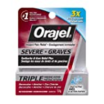 Orajel Severe Toothache and Gum Relief Plus Triple Medicated Gel, 7-g