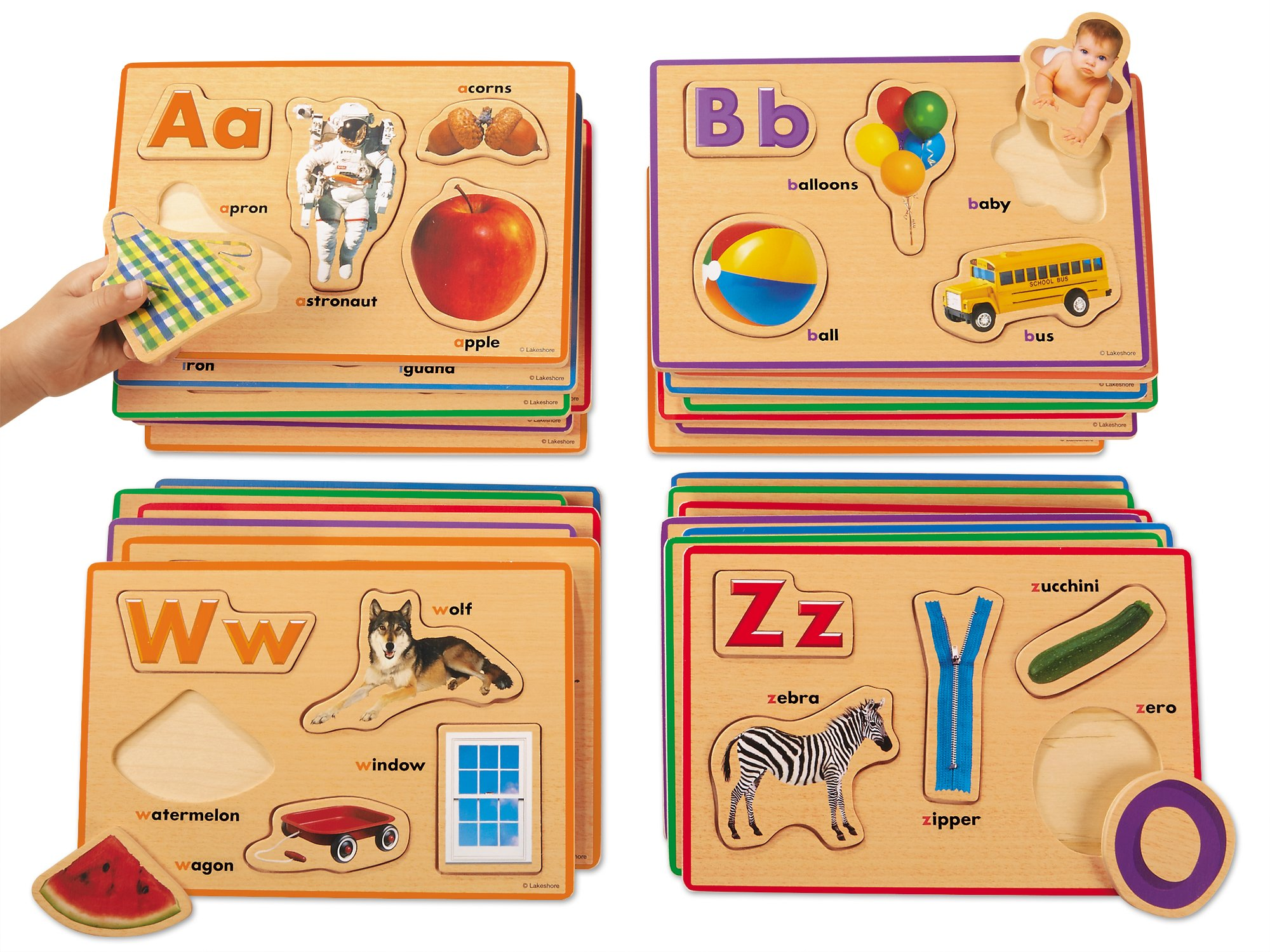 Lakeshore Alphabet Sounds Picture Puzzles by Lakeshore Learning Materials