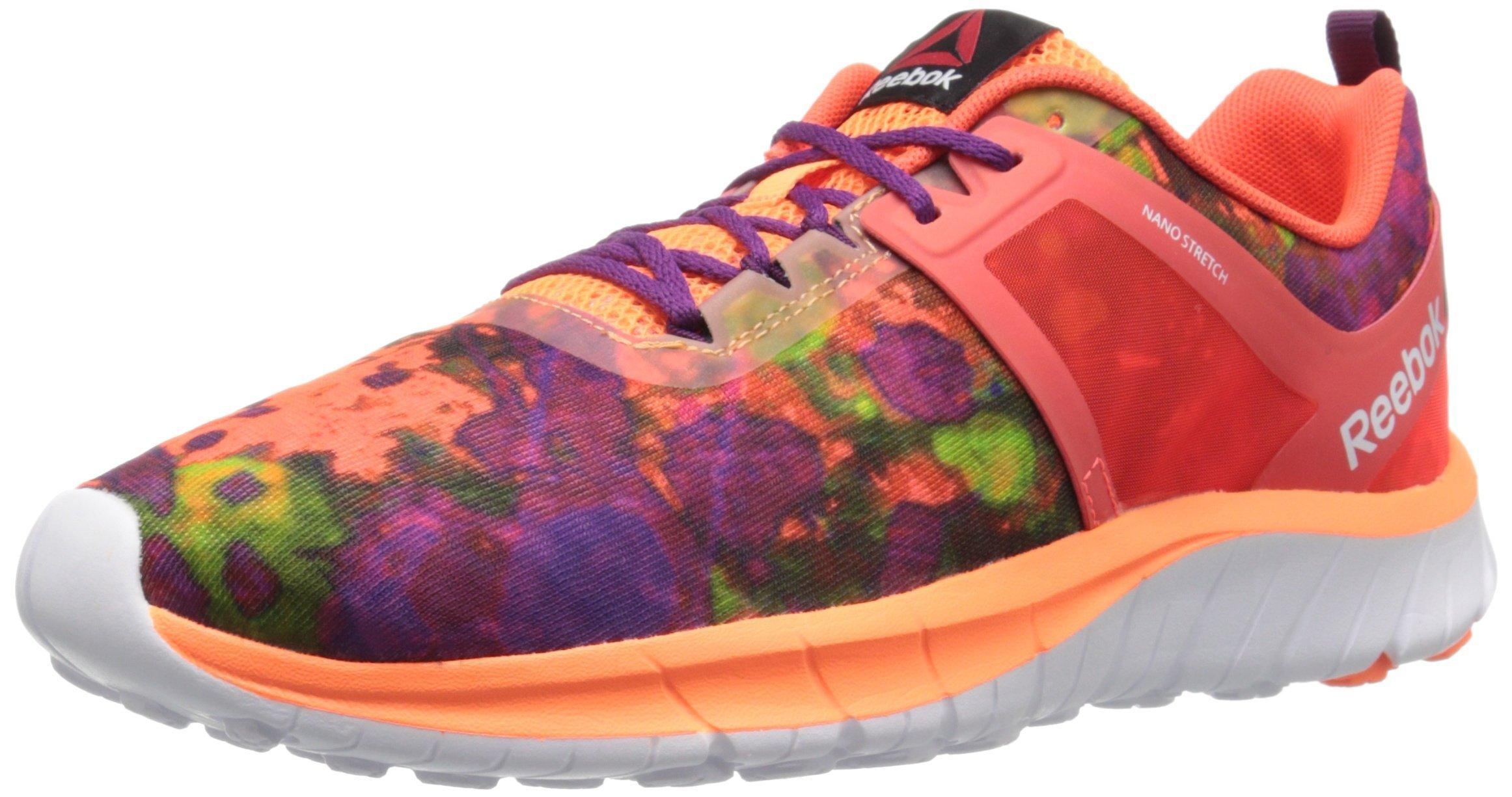 Reebok Women's Z Belle Running Shoe, Atom Red/Electric Peach/Solar Pink/Solar Yellow/Celestial Orchid, 6 M US