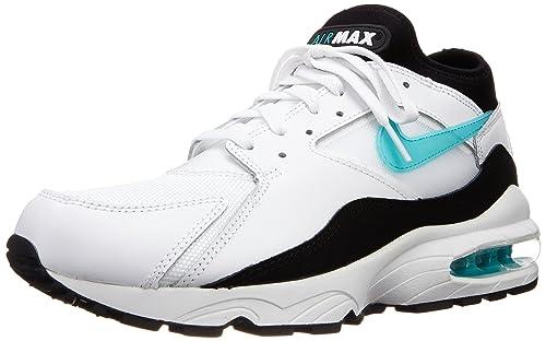 moins cher b3e2e e2163 Nike air Max 93 Chaussures Sneakers Mode Homme Cuir Blanc Noir