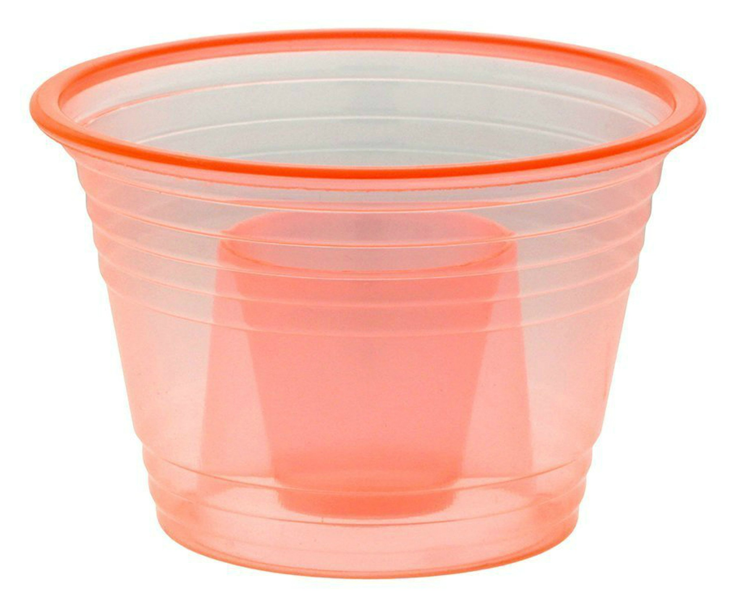 Zappy 50 Neon Orange Jager Bomb Cups Disposable Plastic Party Bomber Power Bomber Jager Bomb Cups Cool Double Shot Glass Glasses Shot Cup Cups Jager bomb glasses for mixed shots 50Ct Orange Jagerbombs