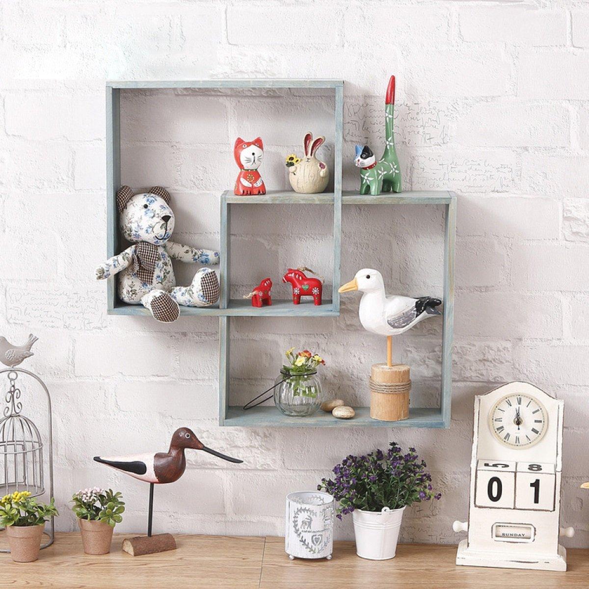 Amazon.com: HongTeng Rack Shelf Wall Mounted Decorative ...