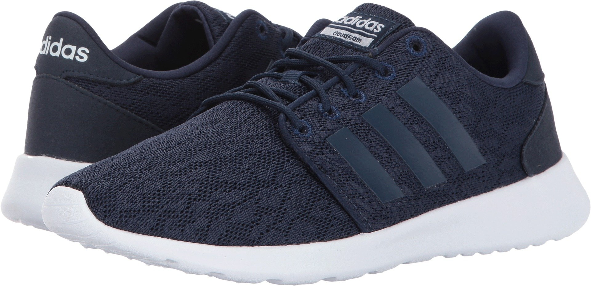 adidas Women's CF QT Racer W Running Shoes, Collegiate Navy/Collegiate Navy/White, (8 Medium US)