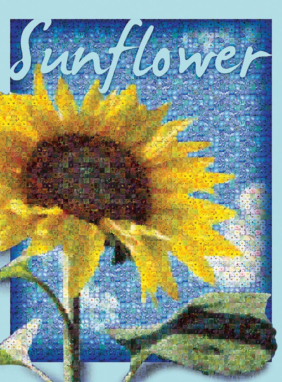 Buffalo Games Photomosaic, Sunflower - 1000pc Jigsaw Puzzle