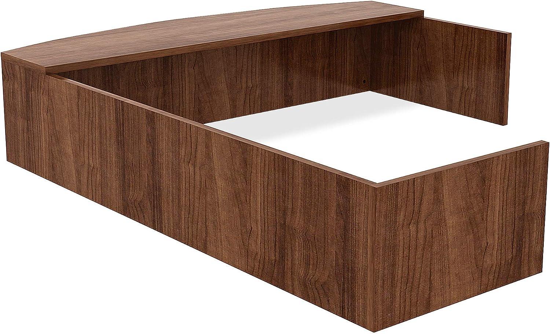 Lorell Essentials Reception Desk, Walnut Laminate: Furniture & Decor