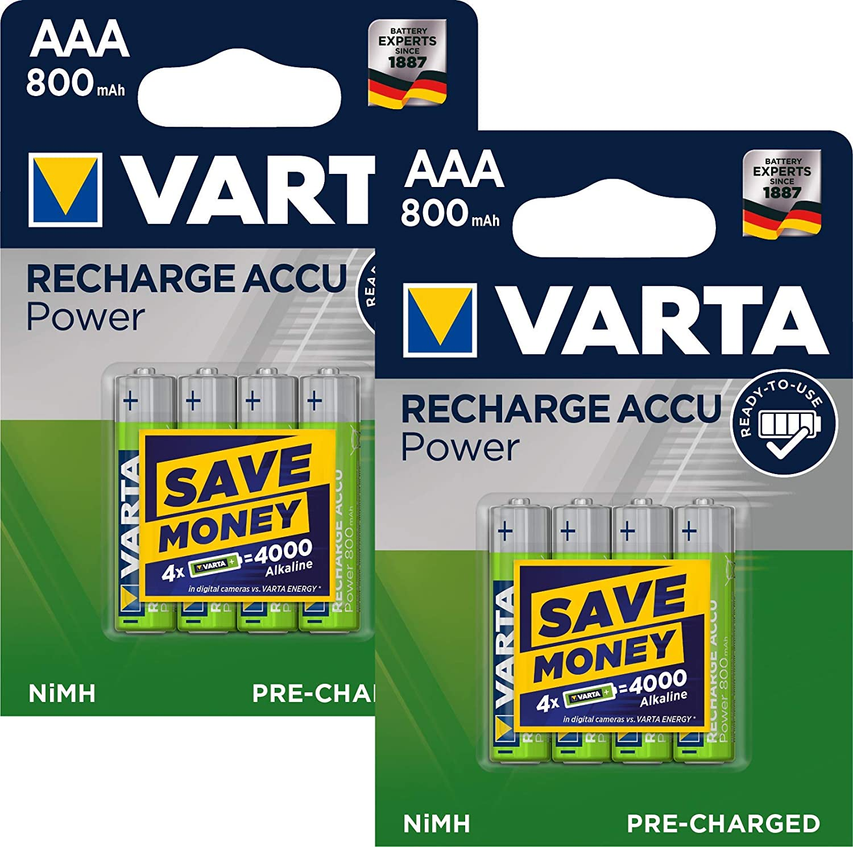 4 Varta 56703 Akku AAA 800mAh Ready To Use Nickel-Metall-Hydrid im 4er Blister