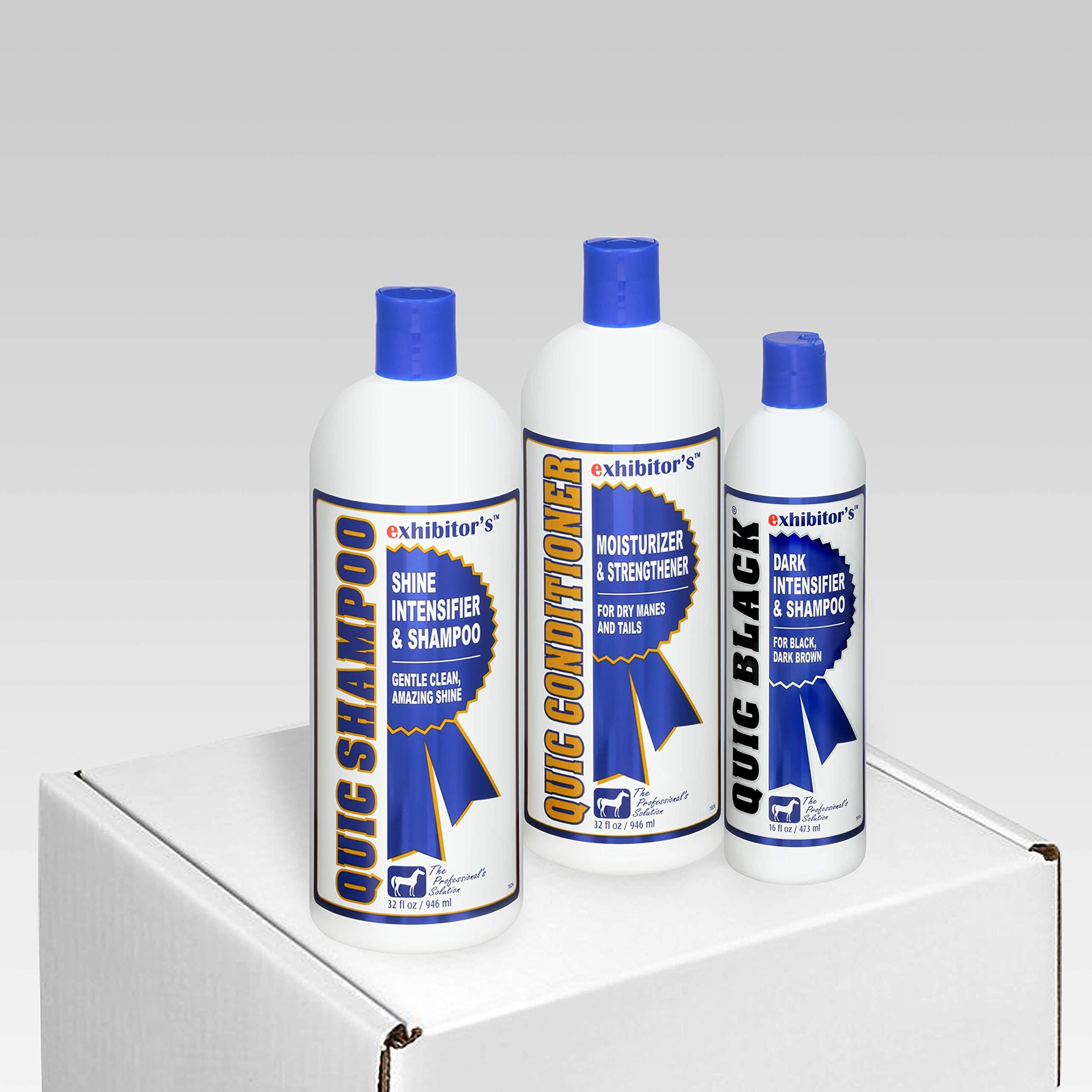 exhibitor's Quic Shampoo Quic Conditioner Plus Color Intensifiers (Quic Black Set)