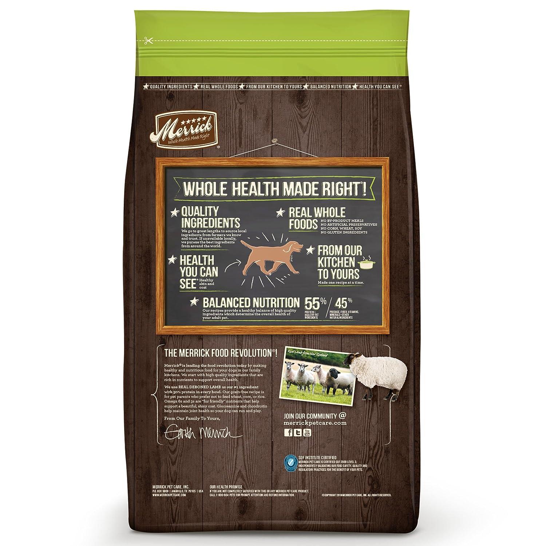 Amazon Com Merrick Grain Free Real Lamb Sweet Potato Recipe Dry