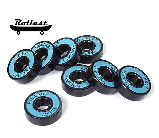 Amazon.com: Rollast - Rodamientos para monopatín (8 unidades ...