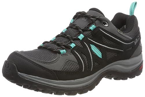 Salomon Ellipse 2 GTX W, Scarpe da Trail Running Donna, Grigio (Magnet/Black/Atlantis Magnet/Black/Atlantis), 38 2/3 EU