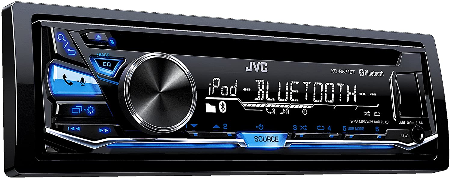 JVC KD-R871BTEN Car Stereo CD-Receiver with Bluetooth: Amazon.co.uk:  Electronics