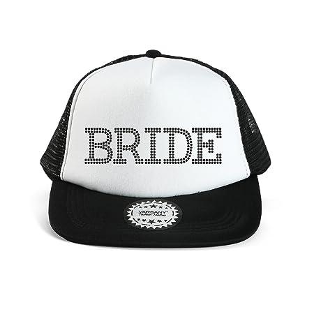Black   Black Varsany® Bride Baseball Hat Crystal Bridal Wedding Party  Trucker Cap bridal shower games invites invitations gifts decorations decor  robe ... 927736a80dbe