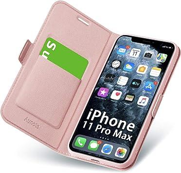 Caler /Étui de Protection pour iPhone 6S//iPhone 6 avec int/érieur en Cuir v/éritable et Fermeture magn/étique