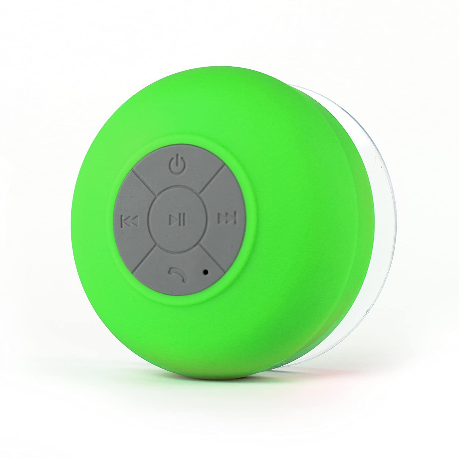 Portable Wireless Hands Free FRESHeTECH Waterproof Bluetooth Shower Speaker Splash Tunes Shower Speaker with Built-in Mic and Suction Cup STPGRY-1 Water Resistant
