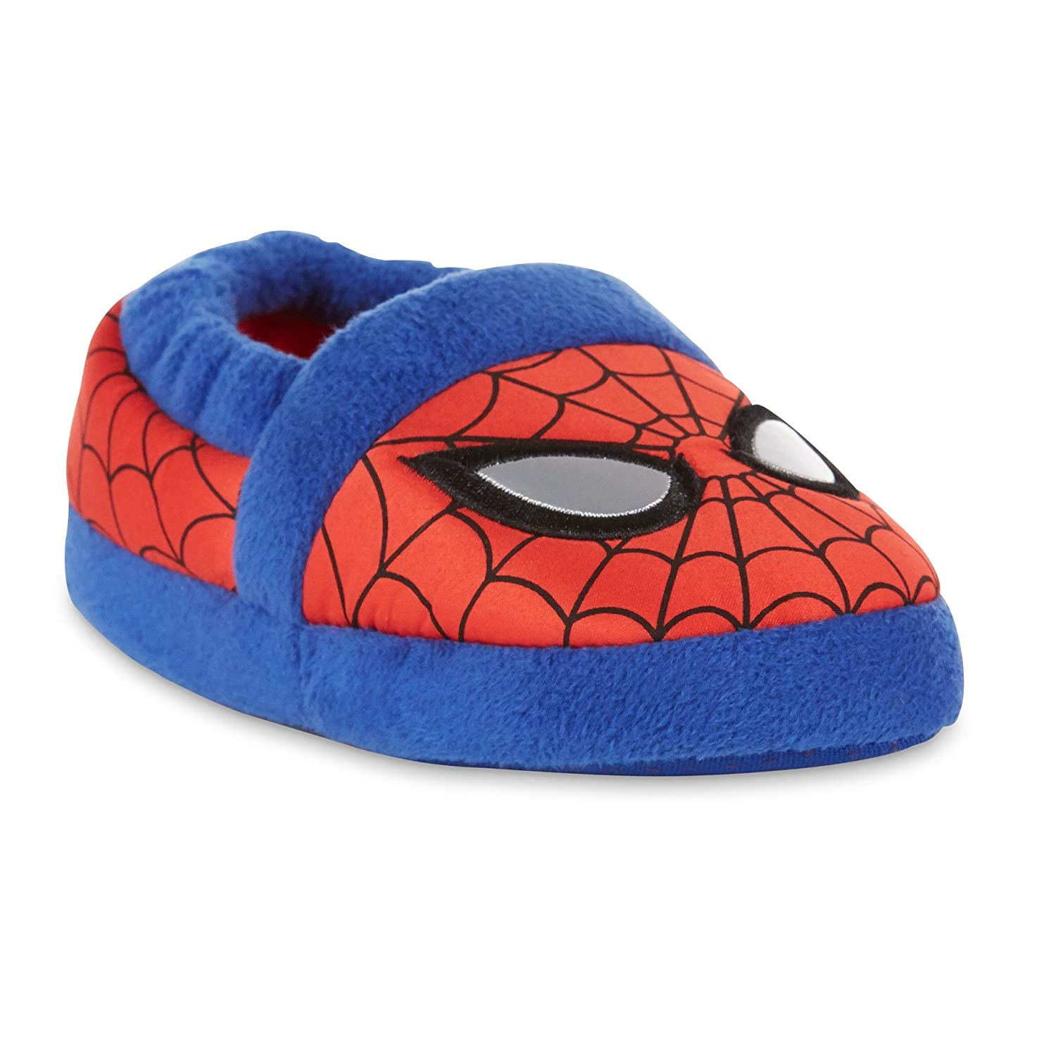 Marvel Spider-Man Toddler Boys' Red and Blue Slippers