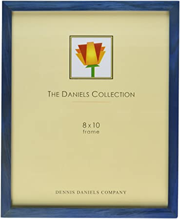 dennis daniels gallery woods picture frame 8 x 10 inches blue
