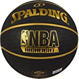 "Spalding Fast""S"" Highlight Basketball Size-7 (Black/Gold)"