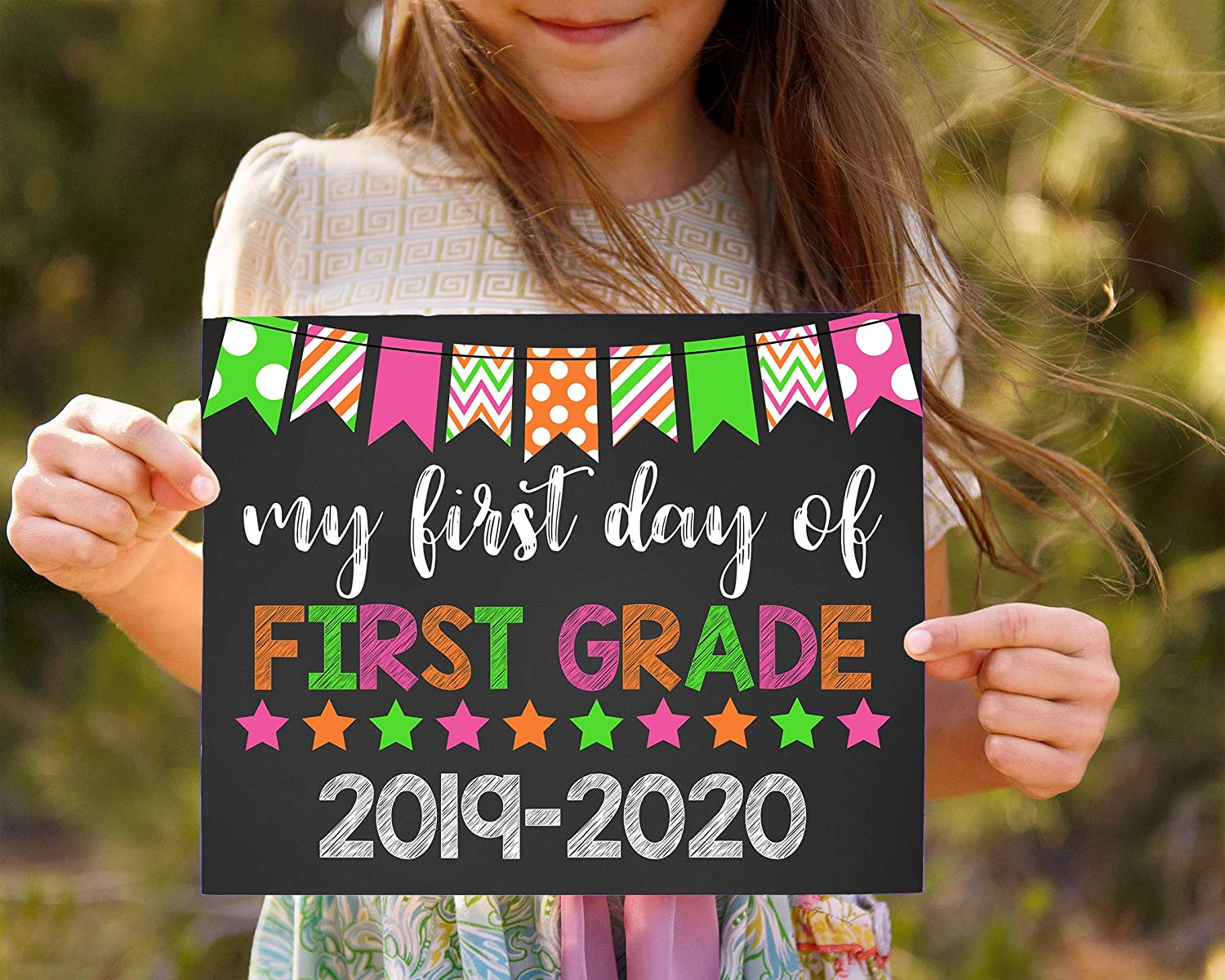 First Day Of Fall 2020.Amazon Com My First Day Of First Grade 2019 2020 First Day