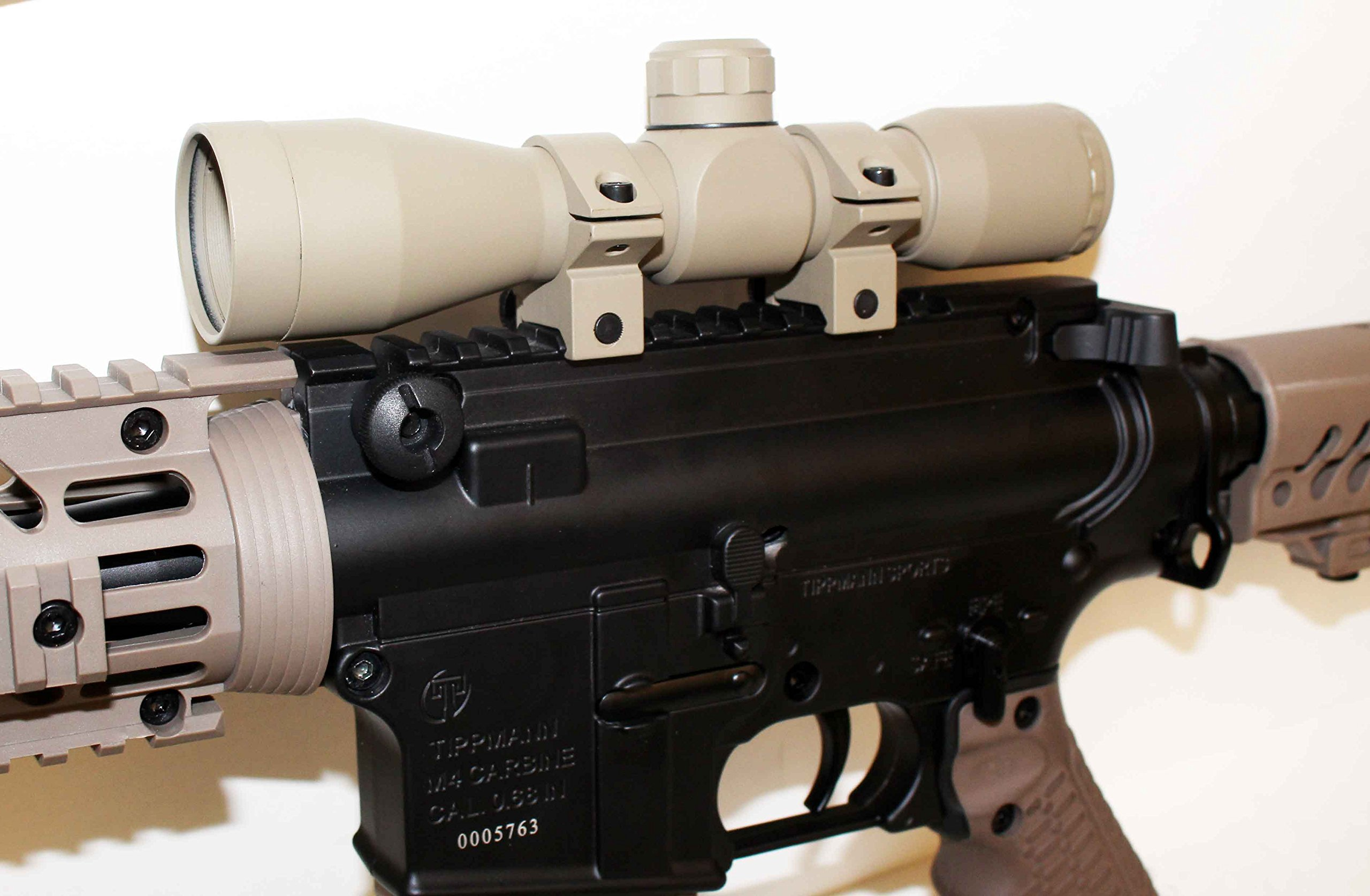 TRINITY Paintball 4x32 Sniper Scope TAN For TIPPMANN CRONUS accessories paintball parts, Woodsball, Tactical paintball. by Trinity