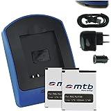 2x Batterie + Chargeur (USB/Auto/Secteur) RL410B pour Rollei Action Cam 230, 240, 400, 410 [3.7V / 1000 mAh / Li-Ion] // Caméscope - Caméra d'action