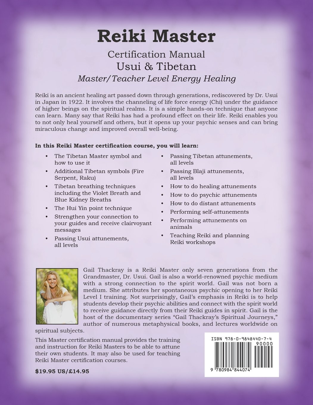 Reiki usui tibetan master certification manual gail thackray reiki usui tibetan master certification manual gail thackray 9780984844074 amazon books 1betcityfo Gallery