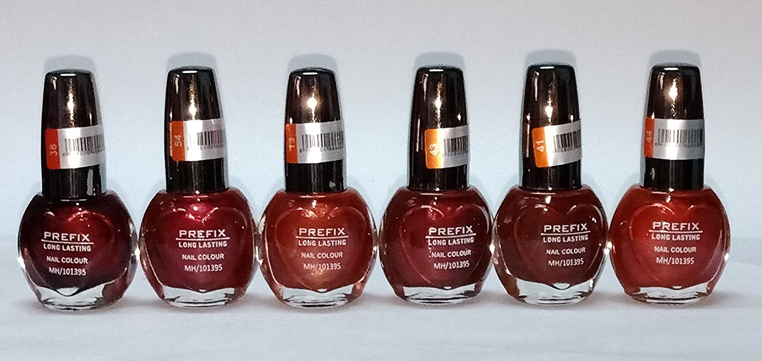 Buy PERFIX LONG LASTING NAIL COLOUR (6 NAIL COLOURS-SET-2) Online at ...