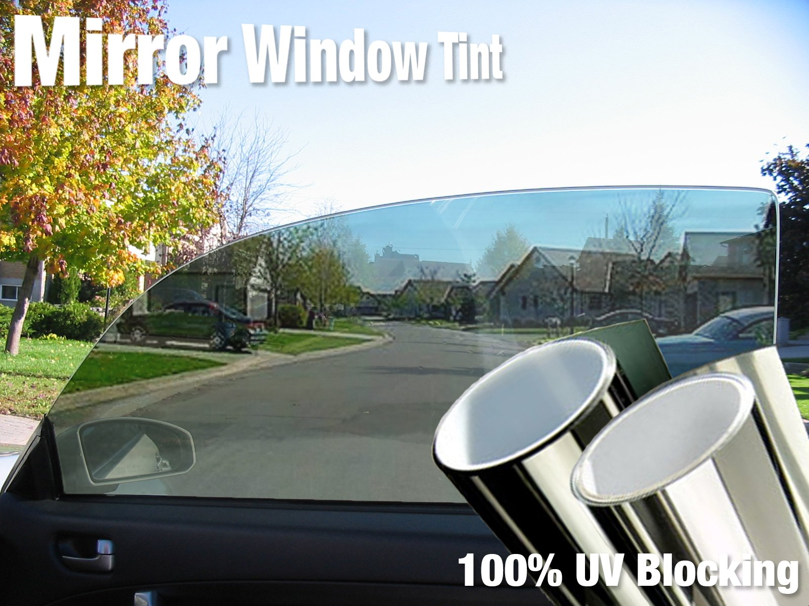 "VViViD Complete Mirror Car Window Wrap Tint Glass Vinyl Film 30'' x 60"" (4-roll Pack (2 Full Cars))"