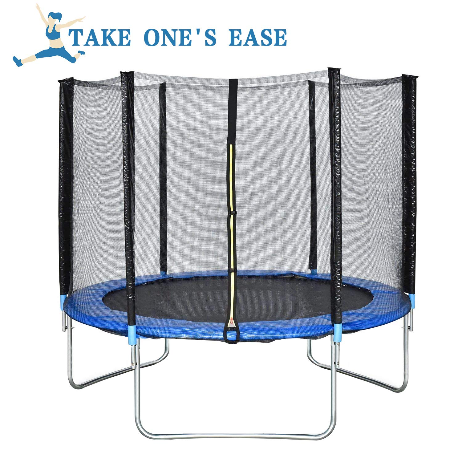 BestMassage Trampoline 10FT Round Jumping Table with Safety Enclosure Net Sping Pad Combo Bounding Bed Trampoline Fitness Equipment by BestMassage