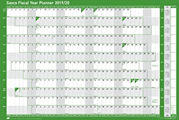 sasco 20192020 card mounted fiscal year wall planner with sticker pack wet wipe