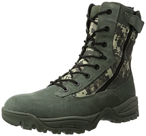 Mil-tec Digital Camo Tactical Army Boots - 2 Zips, Size- UK Size